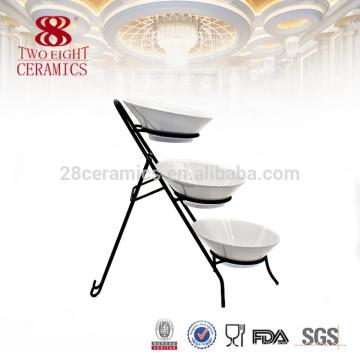 OEM ceramic porcelain platter , cheap plain white table set