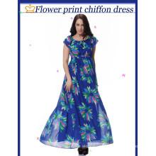Impressão de Chiffon grande jardas mudou vestido vestido de praia