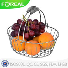 Fácil limpeza de fio de metal Cesta de frutas