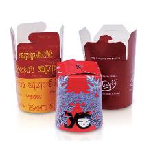Бумага Take Away Пищевая упаковка Пищевой контейнер, печенье Упаковка клетка лапши Box