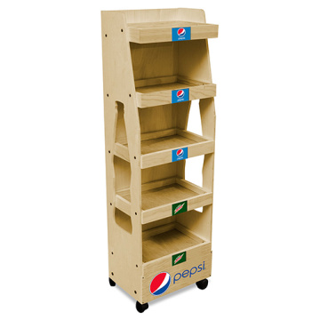 MDF Flooring Energy Drink Display Stand