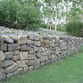 Mur de rétention de roche gabion