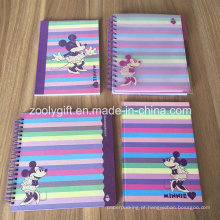Notebook espiral com divisores Soft Hard Cover Exercício Notebooks