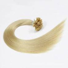 Extrémité en U de cheveux humains prébondés par double en gros / extrémité plate / je pointe des prolongements de cheveux