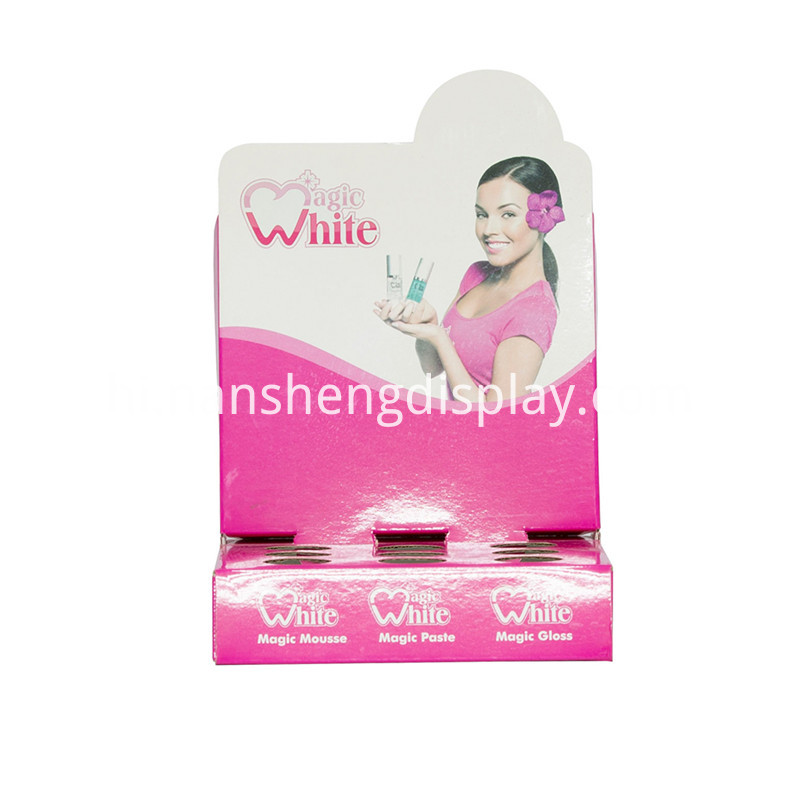 Cardboard-Corrugated-White-Women-Cosmetics-counter-display