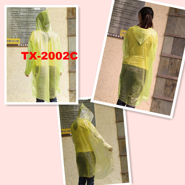 One-time PE RAINCOAT