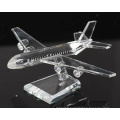 Business Decoration Gifts K9 Crystal Plane Model