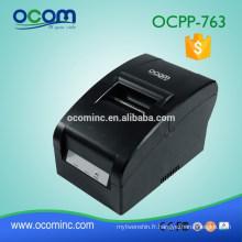 Imprimante de reçu d'impact de Matrix d'impression de largeur d'OCPP-763 76MM avec le découpeur automatique de ruban
