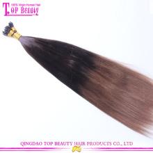 Haut de la page beauté cheveux approvisionnement chinois cheveux Blond 100 kératine à pointe prolongation de cheveux humains
