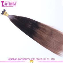 Top beleza cabelo oferta chinesa cabelo loiro 100 queratina viravam a extensão do cabelo humano