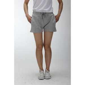 Grey cotton soft shorts womens