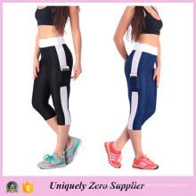2015 venda quente mulheres correndo leggings de fitness de calças justas de capri (50116)