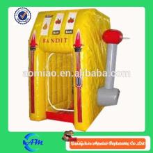 Machine à caisse gonflable en argent, machine à billets gonflable publicitaire à vendre