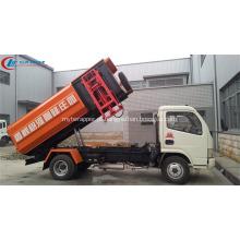 2019 Novo Dongfeng 5cbm carregador lateral de caminhão de lixo