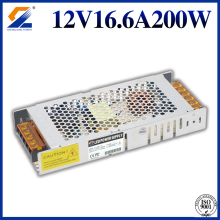 12V 16.5A 200W Slim Transformator För LED Strip