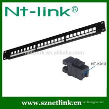 Panneau de connexion modulaire cat5e cat6 utp rj45 24 ports