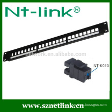 24 port cat5e cat6 utp rj45 modular patch panel