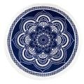 100%cotton hot sale lotus pattern with tassels Round Beach Towel RBT-134