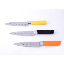 Kunststoffgriff Edelstahl japanische Gebrauchsmesser mit 6 Löchern