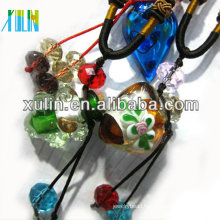 high quality empty perfume bottle murano glass vial pendant