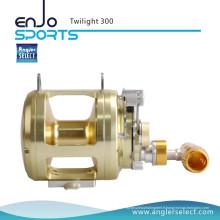 Angler Select Twilight Sea Fishing Aluminium 8 + 1 Bearing Sound Alarm Trolling Fishing Reel (Twilight 300)