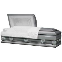 20ga acier surdimensionné Titan argent cercueil