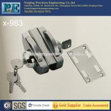 983 half round stainless steel fabrication brass lock core double lock head for single glass door