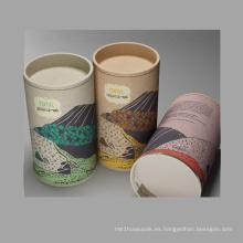 Caja de embalaje de té de diseño personalizado / caja de cilindro