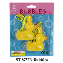 Brinquedo engraçado da bolha do pato do verão
