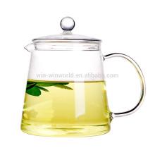 Pot en verre de thé de Handblown de haute qualité avec le tamis