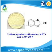 2-Mercaptobenzotiazol 98%, CAS 149-30-4, MBT para inhibidor de la corrosión del cobre