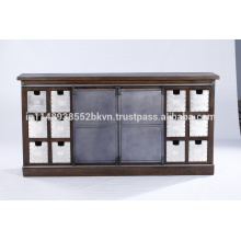 2 Slider Small Drawers Buffet Cabinet