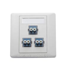 ftth 3 port duplex LC fiber terminal box / socket