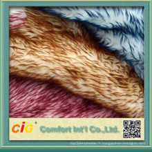 Tissus colorés de haute qualité pour animaux en faux fourrure