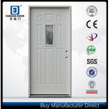 Fangda Modern Steel Glass Door con 8 paneles y vidrio esmerilado