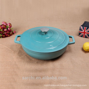 cast iron enamel saucepan