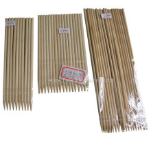 Bamboo skewers and BBQ round bamboo sticks