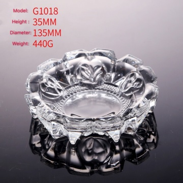 Crystal glass ashtray transparent smoke cigarette amber