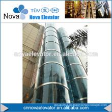 1000KGS, 1.75m / s MRL redondo de vidrio de elevación panorámica