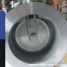 Válvula de retención de acero fundido Wcb / Lcbwafer con muelle
