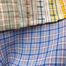 Camisa vestido xadrez xadrez verificar confortável natrual 100% tecido de linho