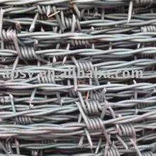 fil de fer barbelé électro galvanisé