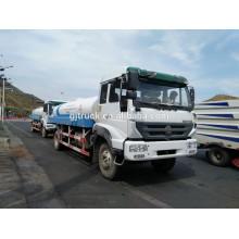 5000L-15000L Sinotruk HOWO Riego camión con acero al carbono o tanque de acero inoxidable