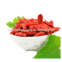 Un tipo de frutas secas nutritivas de salud: bayas de Ningxia Goji, fruta de boxthorn rojo Ningxia, super fruta de salud Ningxia Gouqizi