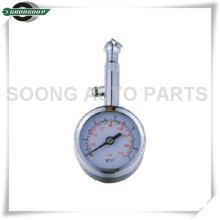 Bass stem Dial Metal Tire Gauge with chrome plating air release valve