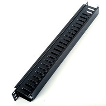 1u 19 Inch Rack Mount Horizontal Cable Manager for Wiring