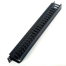1u Gerenciador de cabo horizontal de montagem em rack de 19 polegadas para fiação