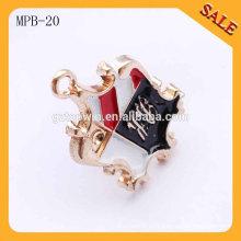 MPB20 Insignias únicas del perno del metal del oro de la insignia de la compañía de la calidad estupenda para la ropa