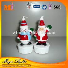 Милые Рождественские свечи для украшения торта