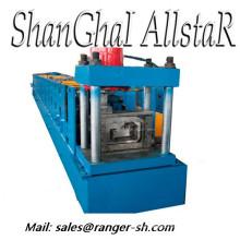 Calha rolo formando linha de produção da máquina com PLC